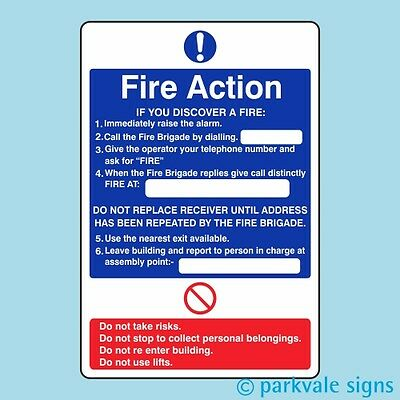 General Fire Action Sign (421)