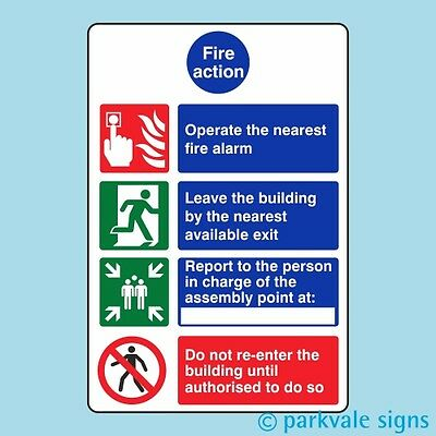 General Fire Action Sign (424)