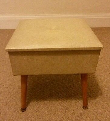 Vintage Retro Sherborne Sewing Box with Dansette Legs