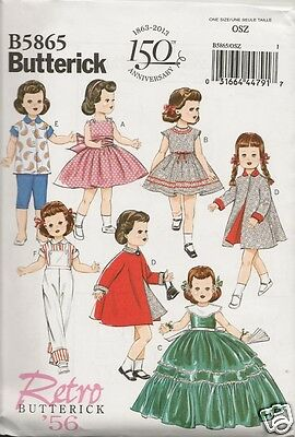 5865 18 Inch Doll Clothes New  Sewing Pattern Butterick 5865