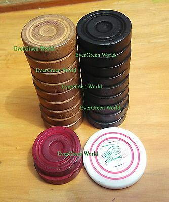 CARROM BOARD coins - SET of 20 COINS + 1 Striker  B-15