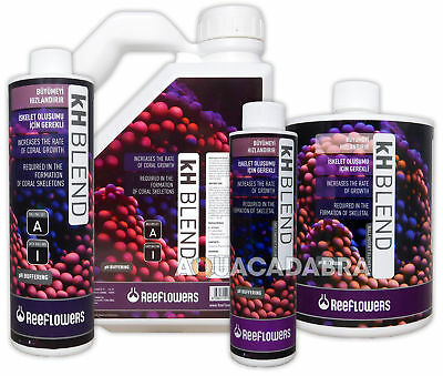 REEFLOWERS KH BLEND 250ml 500ml ALKALINITY CORAL GROWTH MARINE REEF AQUARIUM