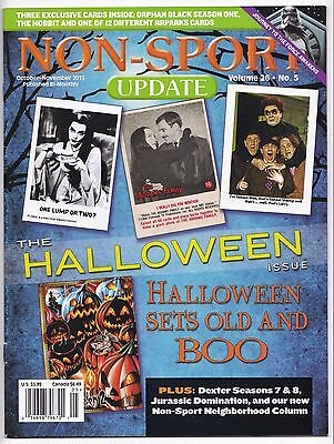 2015 Non Sport Update Magazine and Price Guide Halloween Issue Munsters Stooges