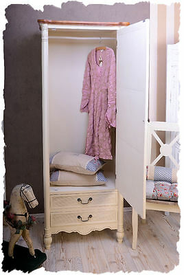 Clothing Closet Wardrobe In Country House Style White Shabby Vintage