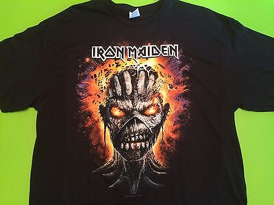 Iron Maiden NEW Event World Tour 2016 Concert T Shirt XL BOOK OF SOULS  in hand