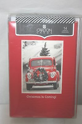 Carlton Christmas Cards Boxed Set Of 14 Each Cards & Envelopes NEW
