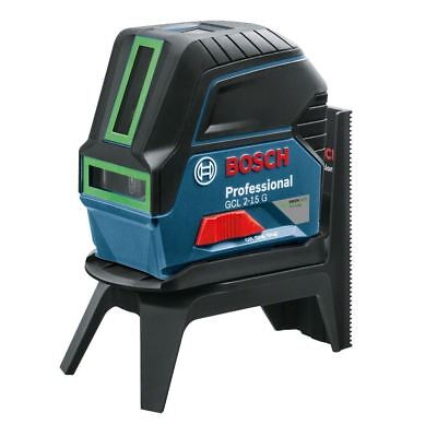 Bosch GCL 2-15 G Green Cross Line Laser With RM1 + Carry Case - 0601066J00