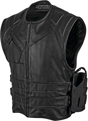 Speed & Strength Mens The Quick and The Dead Leather Vest