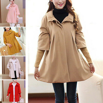 Newly Maternity Coat Loose Comfy Pregnant Women Outerwear Lady Winter Warm Cloak