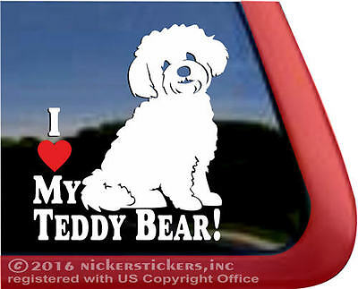I Love My Teddy Bear | High Quality Vinyl Window Auto Shichon Dog Decal Sticker