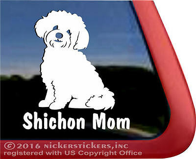 Shichon Mom  | High Quality Vinyl Window Auto Tablet Dog Decal Sticker