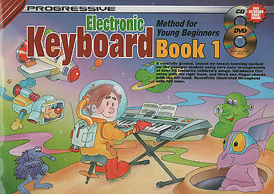 Progressive Keyboard Method For Young Beginners Book 1, DVD & CD Easy Childrens