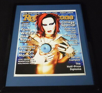 Marilyn Manson Framed October 15 1998 Rolling Stone Cover Display