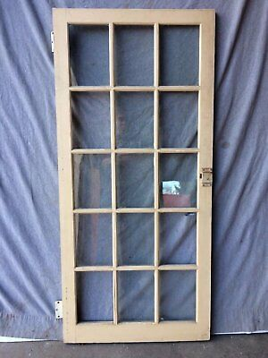 Antique Casement Window Pantry Cupboard Door Cabinet Vintage 2035-16