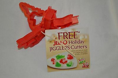 NEW Set of 6 JELLO Holiday JIGGLERS Christmas Cutters w/ Recipe
