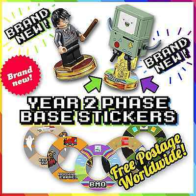 NEW! YEAR 2 Lego Dimensions Base Stickers - 18 MORE DESIGNS TO LABEL BLANK BASES