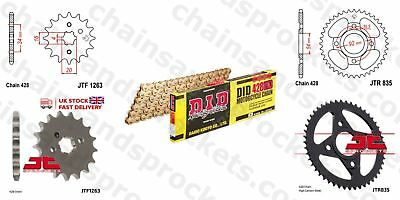 DID- All Gold Heavy Duty Chain Kit 428HDGG 118 fits Yamaha RD125 LC1 82-85