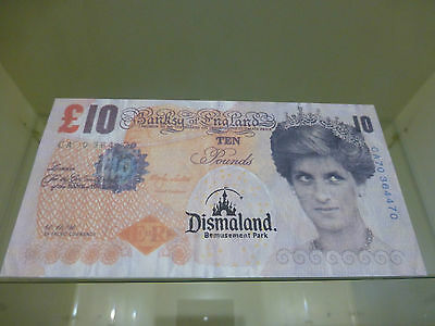 ** NEVER SEEN BEFORE ** - 'DISMALAND' Bemusement Park Stamped Banksy Tenner !!!