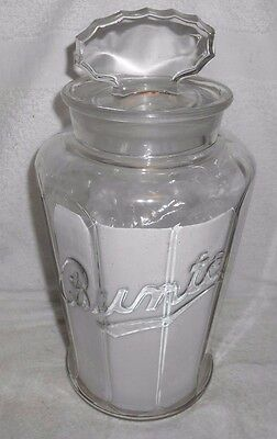 1930's Bunte Candy Store Counter Top Glass Candy Jar