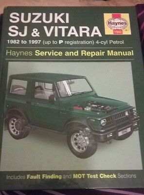 suzuki SJ410 And Vitara haynes manual