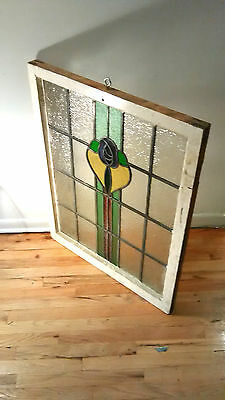 Antique Vintage Leaded Stain Glass Window