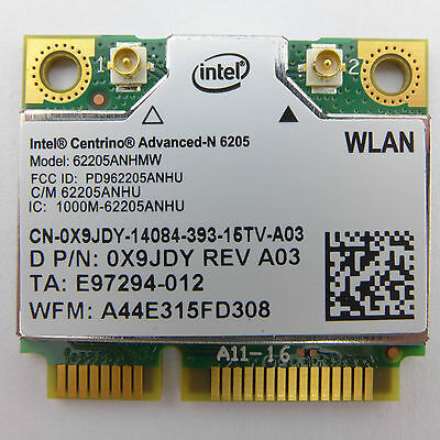 INTEL 62205ANHMW Intel® Centrino® Advanced-N 6205 Mini-PCI Express Wlan Modul (H