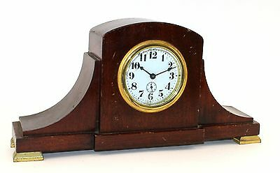Small Waterbury Wind-Up Mantel Clock- Working!  Rr123
