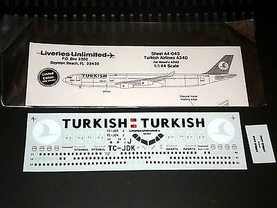 Liveries Unlimited Decals A4-043 1/144 A340 Turkish Airlines (Revell)