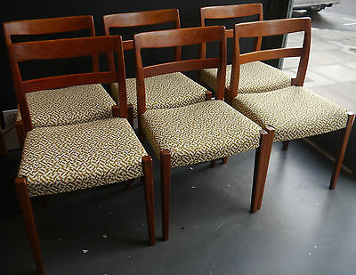 A set of six 1970s  vintage Swedish rosewood dining chairs by Nils Jonnson