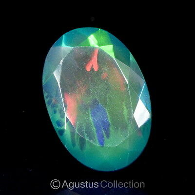 8.47 cts Natural Multicolor Black WELO OPAL Ethiopia Oval Faceted Clean Gemstone