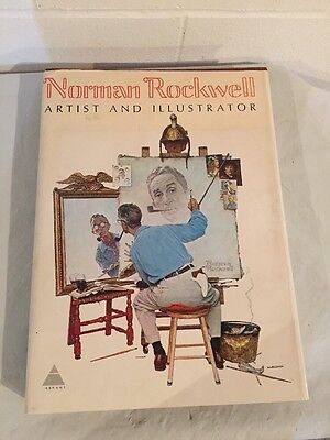 "Norman Rockwell's  ""Artist and Illustrator"" large book 1970"