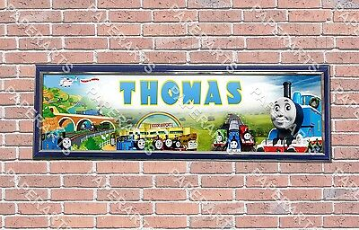 Art Posters Thomas and Friends Poster 30 x 8.5 Custom Name Painting Printing