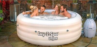 Bestway Lay-Z-Spa Vegas Premium Inflatable Hot Tub Jacuzzi 4-6 person NEW