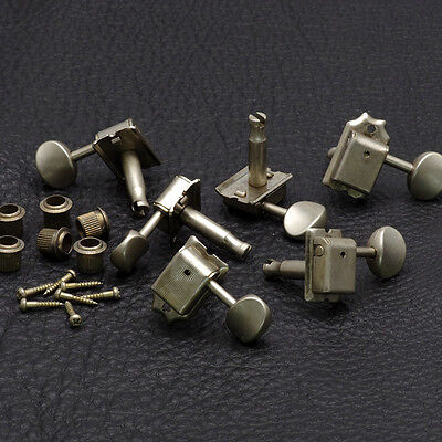 Gotoh SD91-05M RELIC 6 in-line Vintage Style Tuners for Strat Tele AGED NICKEL