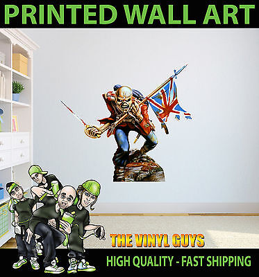 Printed Wall Art Iron Maiden Trooper 02 Eddie Up The Irons Graphic Sticker