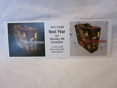 Foo Fighters - Rare 2001 Promo Flyer - Next Year - New Single - Vintage