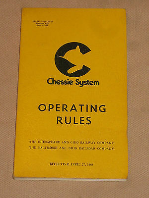 Chessie System Operating Rules Railroad Train Book 1969