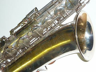 Vintage French Silver plated  tenor sax