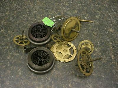 1.50 lbs Watchmaker  Alarm Mantel Clock Gears Parts Steam Punk AlteredArt E596