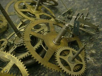 SethThomas Gilbert Clock maker Main Secondary Timing Gears Brass SteamPunk E504