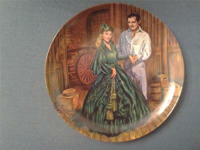 Scarletts Green Dress Plate Gone With The Wind Edwin Knowles + Certificate