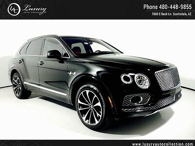 2017 Bentley Other  Bentayga_Black/Red_Lane Assist_Night Vision_Pano Roof_Blind Spot Assit