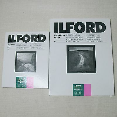 ILFORD LOT OF 2 PHOTOGRAPHIC PAPER MGIV MULTIGRADE IV 11 x 14 & 8 x 10 in NEW