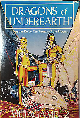 Dragons of Underearth Metagaming MetaGame #2 Fantasy Trip - New unopened NOS