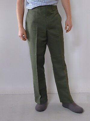 Vintage retro true 1970s unused XL green mens pants Australia tags King Gee