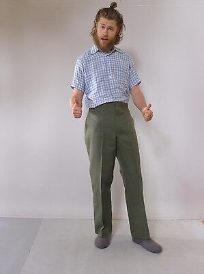 Vintage retro true 1970s unused L green mens pants Australia tags King Gee