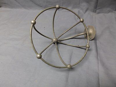 Antique SMG Nickel Brass Basket Soap Dish Sponge Holder Old Vtg Fixture 2061-16