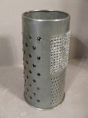 Antique Primitive Metal Circular Cheese Spice Grater Marked England