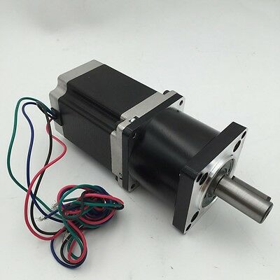 5/10/20/30/50/100:1 Gearbox Nema23 Planetary Gear Head +1.8NM Stepper Motor CNC