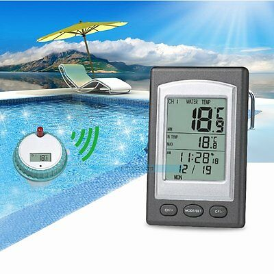 Wireless Thermometer Receiver Emitter Waterproof For Pool Pond FishTank Spa【UK】